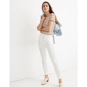 "Madewell 10"" High Rise Skinny Jeans In Pure White"